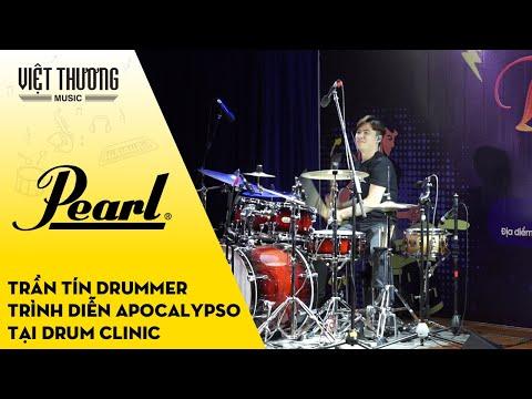 Trần Tín Drummer biểu diễn tại sự kiện Drum Clinic
