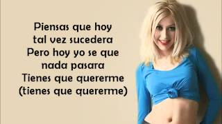 Christina Aguilera - Genio Atrapado with lyrics on screen