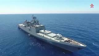 """Фрегат """"Адмирал Эссен"""" Черноморского флота в работе    © 2017"""