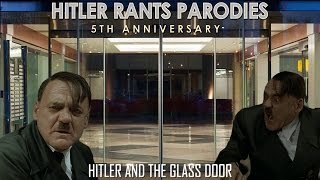 Hitler and the glass door