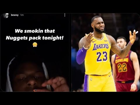 LEBRON JAMES SON BRONNY JAMES POST VIDEO OF HIM SMOKIN TWITTER REACTS