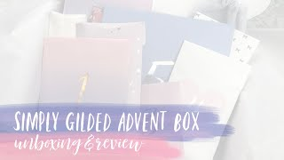 12 DAYS OF CHRISTMAS | simply gilded advent box unboxing & review | tattooed teacher plans