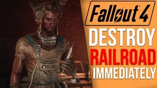 [Fallout 4] What Happens if You Destroy the Railroad IMMEDIATELY?