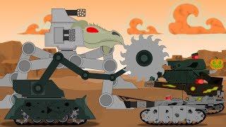 Сумеречный отряд. Битва с Огнедемоном и встреча с монстром Безликий - Мультики про танки