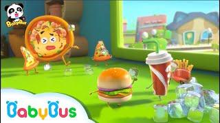 ★NEW★ハンバーガー軍団VSピザ軍団 どっちが勝つかな? |食べ物のうた&人気童謡まとめ |赤ちゃんが喜ぶ歌|子供の歌|童謡|アニメ|動画|ベビーバス|BabyBus