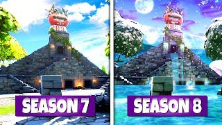 *NEW* LOCATIONS IN FORTNITE THAT *ARE CHANGING* DURING SEASON 8 LEAKED FLOOD EVENT!: BR