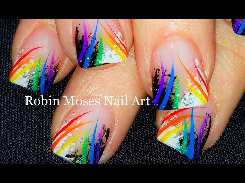 Sponge Nail Art | Beginner Technique + Rainbow stripes | DIY Nails Design Full Tutorial