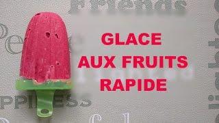Glace aux fruits, sans sorbetière