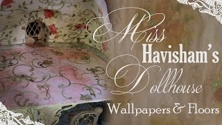 Painting  Floral Wallpapers For Miss Havishams Dollhouse