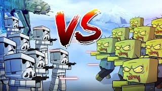 Minecraft   1000 Zombies vs 350 Storm Troopers! (Star Wars Massive Mob Battles)