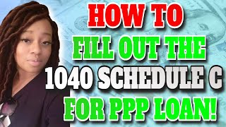 How to Fill Out 1040 Schedule C  and Upload It to Smartbiz for PPP Loan Application