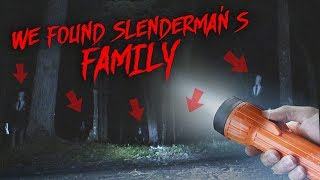 PLAYING SLENDER MAN GAME IN HIS FOREST AT 3 AM!! *WE FOUND HIS FAMILY*