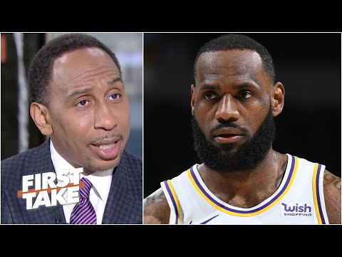 Stephen A. reacts to LeBron's injury: The Clippers are under pressure | First Take