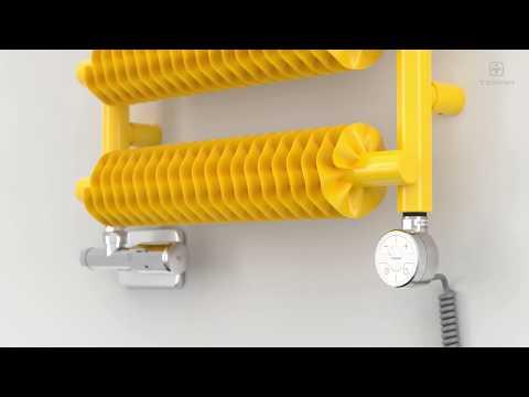 Установка нагревателей Terma MOA, MEG, DRY. Версия с кабелем и вилкой