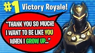 KID GIVES ME GOLD SCAR...SO I BOUGHT HIM A LEGENDARY SKIN ON FORTNITE!