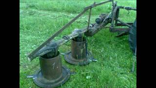 Самодельная роторная косилка из мостов