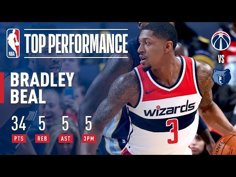 Bradley Beal Drops 34 As The Wizards Beat The Grizzlies