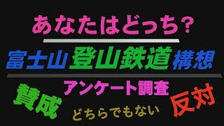 富士山登山鉄道構想 アンケート調査 Go!Go!NBC!