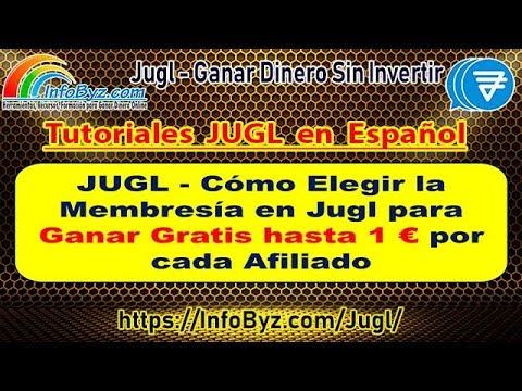 Jugl-Cómo Elegir Membresía Jugl para Ganar hasta 1€uro por cada afiliado Gratis