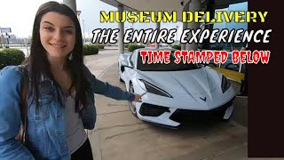 2LT Z51 MID ENGINE C8 CORVETTE MUSEUM DELIVERY THE ENTIRE EXPERIENCE