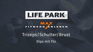 Training mit Flo 04 – Trizeps/Schulter/Brust – Dips