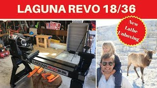 New - Laguna Revo 18/36 Unboxing - Assembly - Overview - lathe first impressions - Review