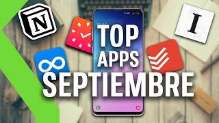 TOP APLICACIONES SEPTIEMBRE - Las mejores aplicaciones de PRODUCTIVIDAD