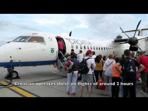 Croatian Airlines | Business Class | Zurich to Zagreb | Dash 8 Q400