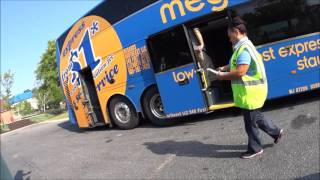 Getting On And Inside A Megabus