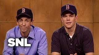 Weekend Update: Matt Damon And Seth Meyers On Coping With Losing   SNL