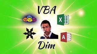 Understanding VBA Code: Declaring Variables with Dim