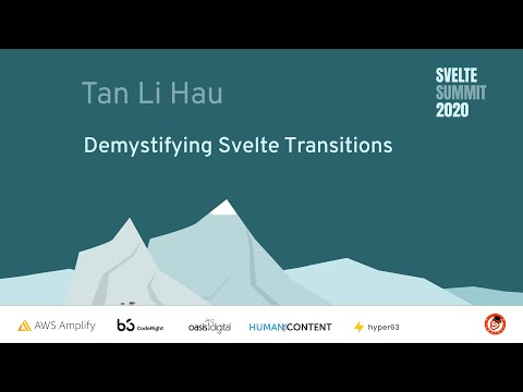 Image thumbnail for talk Demystifying Svelte Transitions