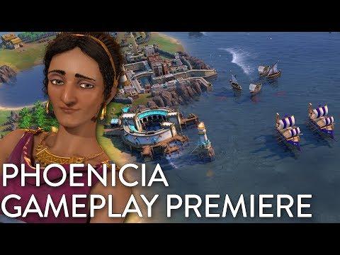 Civilization VI: Gathering Storm - Phoenicia Gameplay Premiere (Dev Livestream)