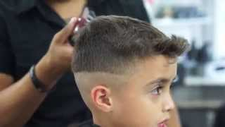 Kid Cuts - Hair Flip Mid-Fade Tutorial