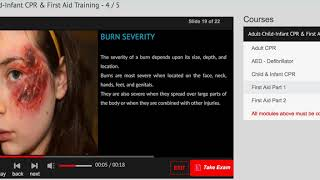 Adult Child Infant CPR certification online and first aid training