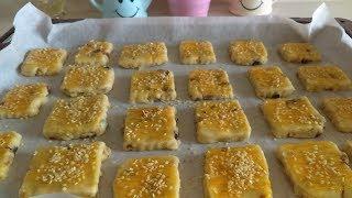 ÜZÜMLÜ CEVİZLİ Yedikçe yedirten BİSKÜVİ kurabiye