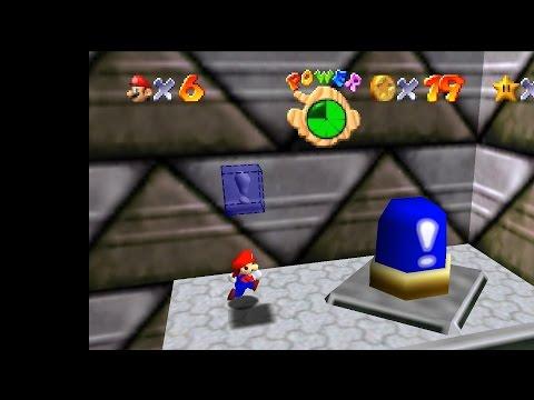 Super Mario 64: EIN GEHEIMER STERN DES SCHLOSSES + TARNKAPPE (Blauer Schalter)