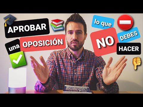 APROBAR APOSICIONES - ¡¡Lo Que NO DEBES Hacer!!