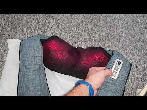Shiatsu Nackenmassagegerät für Gamer Infrarot Wärmefunktion 3D Rotation Schulter Rücken Konjac