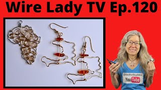 DIY Africa Pendant And Haiti Earrings // Wire Lady TV Ep 120 Livestream Replay