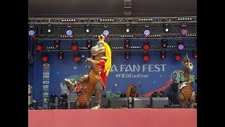 """Группа """"Поющие динозавры"""" открыла фан-зону FIFA Чемпионата мира по футболу 2018"""