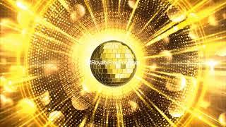 Golden Disco Ball Background, Golden motion background video effects HD, Disco ball effect video HD