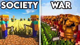 100 Players Simulate Civilization in Minecraft