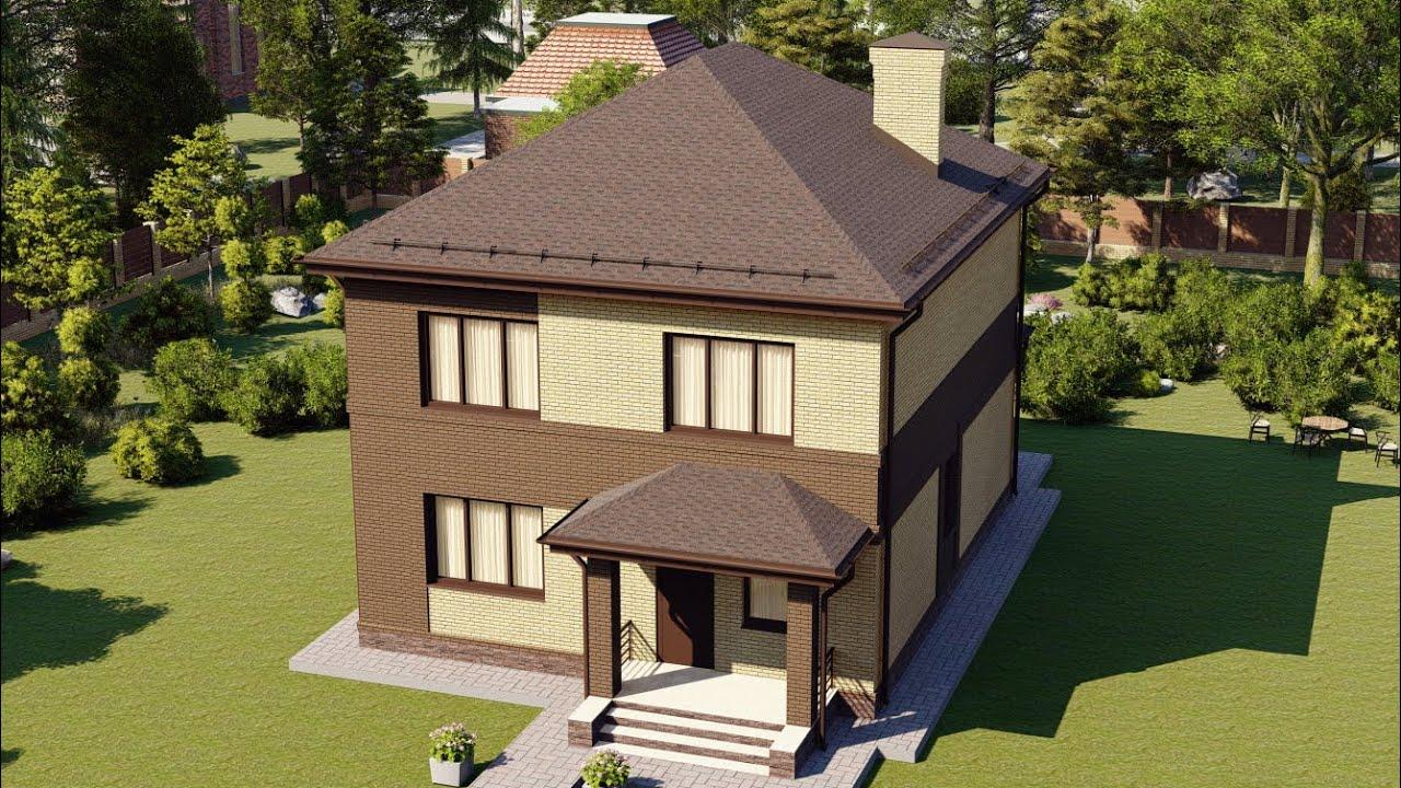 Двухэтажный дом из газобетона 150 кв м