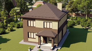 Проект дома 153-A, Площадь дома: 153 м2, Размер дома:  11,5x9,3 м