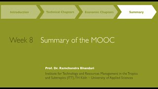 MOOC Week 8: Summary