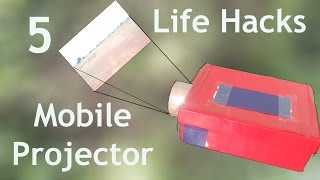 How to Make Mobile Phone Projector | 5 cool idea with mobile