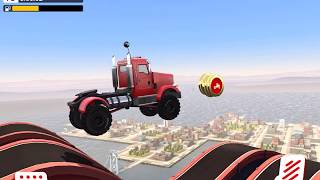 MMX HILL DASH / MMX HILL CLIMB RACING Big Rig / Trophy Truck / Bouncer Gameplay Video Android / iOS