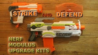 [REVIEW] Nerf Modulus Kits: Strike and Defend Upgrade Kit - Unboxing, Review, and Firing Test