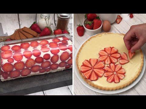 Ice Cream Cake Suprise 🍰  Strawberry Lava 🍓 Berry Flowers 🌸 It's Strawberry Season!